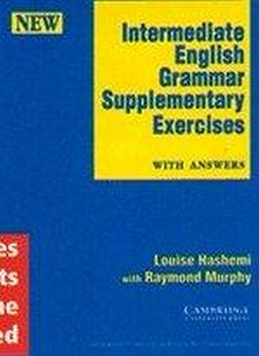 9788185618715: Intermediate English Grammar: Supplementary Exercises with Answers