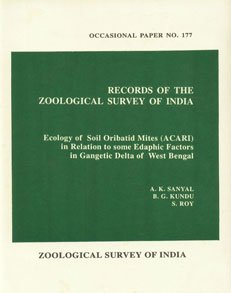 Ecology of soil oribatid mites (ACARI) in: A.K. Sanyal, B.G.