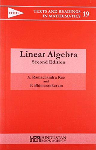9788185931616: Linear Algebra, 2Nd Edn (Texts And Readings In Mathematics 19)