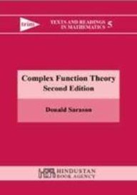 9788185931845: Complex Function Theory, 2Nd Edition (Texts And Readings In Mathematics 5)