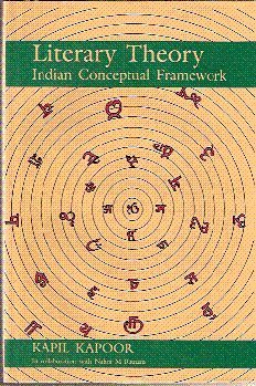 9788185938868: Literary theory: Indian conceptual framework