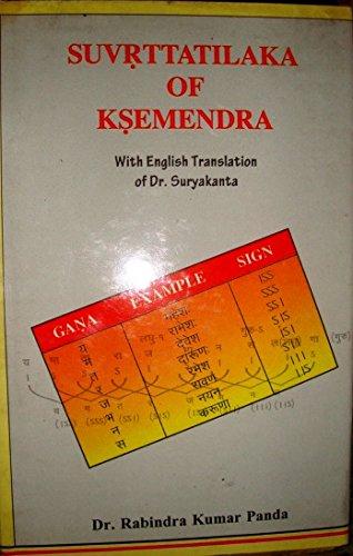 Suvrttatilaka of Ksemendra with English Translation of: Dr Rabindra Kumar
