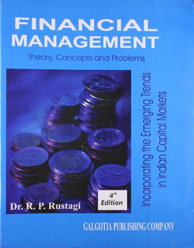 9788185989280: Financial Management Theory, Concepts and Problems ; Incorporating the Emerging Trends in Indian Capital Market