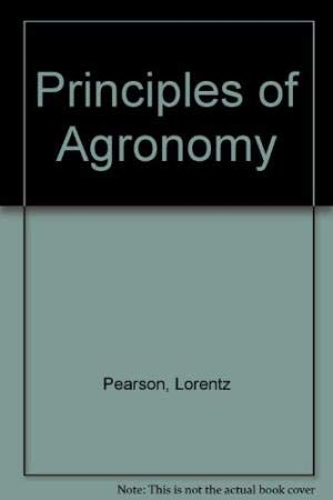 Agronomy Principles and Practices