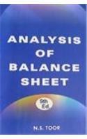 9788186141045: Analysis of Balance Sheet