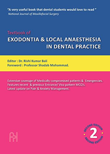 Textbook of Exodontia & Local Anaesthesia in: Bali R.K.