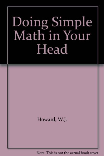 9788186982624: Doing Simple Math in Your Head