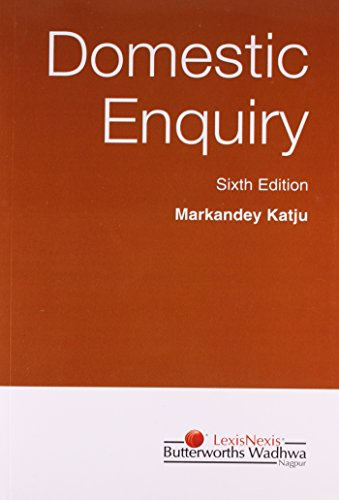 9788187162148: Domestic Enquiry