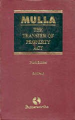9788187162179: The Transfer of Property Act, 1882