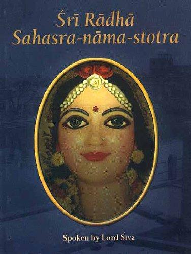 Sri Radha Sahasra-Nama-Stotra: Purna Prajna Dasa