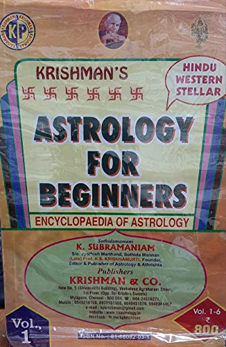 9788188082032: Astrology for Beginners (KP - 6 Volume Set)