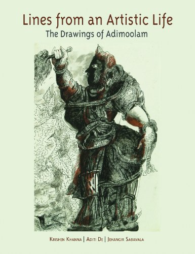 9788188204946: Lines from an Artistic Life: The Drawings of Adimoolam