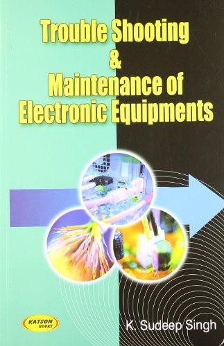 Trouble Shooting & Maintenance of Elect. Equipments: K.Sudeep Singh