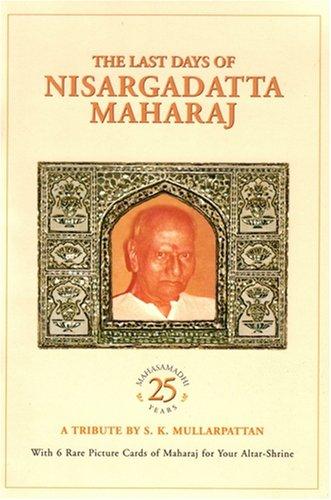 9788188479269: The Last Days of Nisargadatta Maharaj
