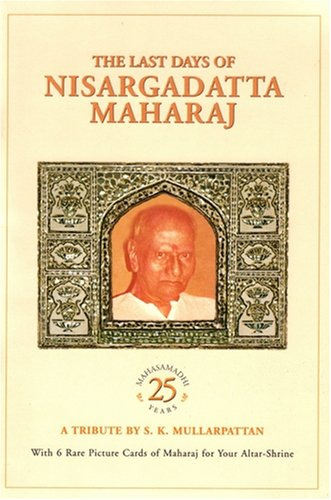 9788188479269: The Last Days of Nisargadatta Maharaj