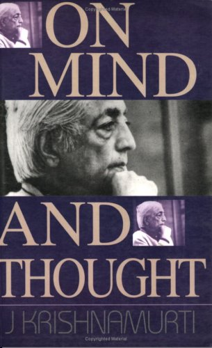 On Mind And Thought (8188661228) by J.Krishnamurti