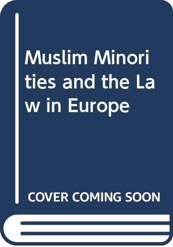 9788188869237: Muslim Minorities and the Law in Europe