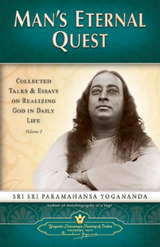 9788189535025: Man's Eternal Quest: Collected Talks and Essays on Realizing God in Daily Life: 1