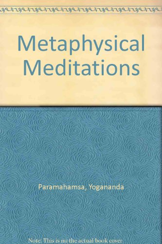 9788189535599: Metaphysical Meditations