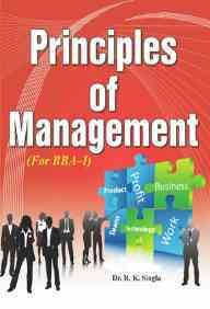 9788189611996: Principal of Management: for BBA
