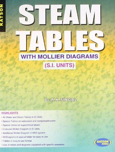 thermodynamics steam tables si units pdf