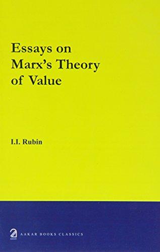 9788189833336: Essays on Marx's Theory of Value