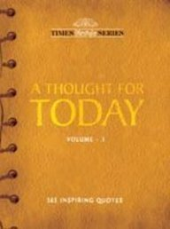 9788189906665: A Thought For Today Vol.-3