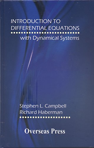 9788189938819: Introduction to Differential Equations with Dynamical Systems