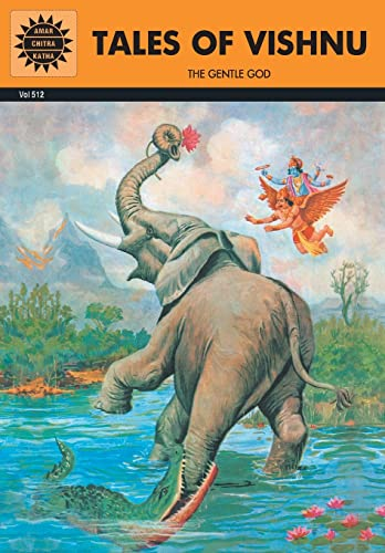 9788189999339: Tales of Vishnu: The Gentle God (Amar Chitra Katha) Indian Comic Book (Epics and Mythology)
