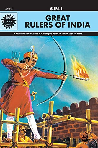 9788189999810: Great Rulers of India 5 in 1:Amar Chitra Katha 5 in 1 Series)