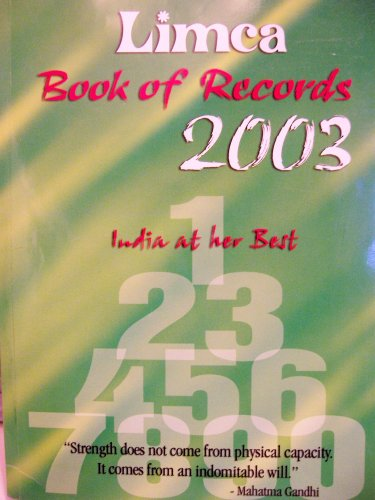 Limca Book of Records - 2003 (India: Vijaya Ghose
