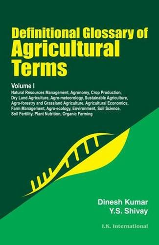 Definitional Glossary of Agricultural Terms Two Volume Set
