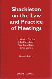 9788190865098: Shackleton on the Law and Practice of Meetings