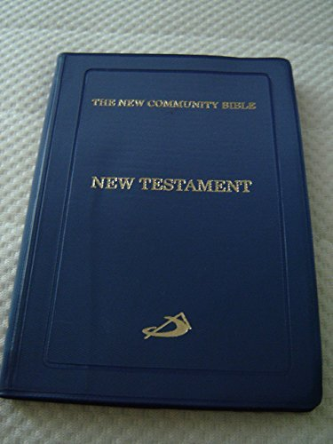 9788192584546: The New Community Catholic New Testament / St Pauls Press / Blue Vinyl Cover / Printed and Bound in India / Pocket Size