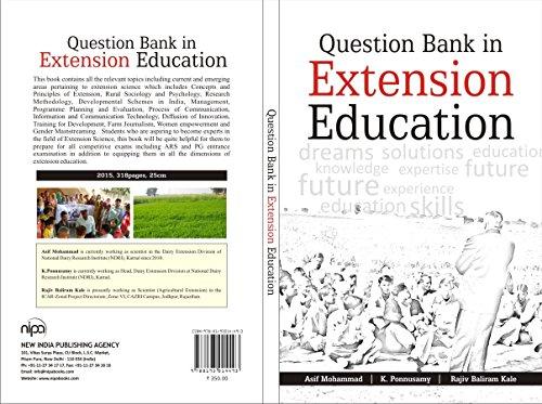 Question Bank in Extension Education: Asif Mohammad,K. Ponnusamy,Rajiv Baliram Kale