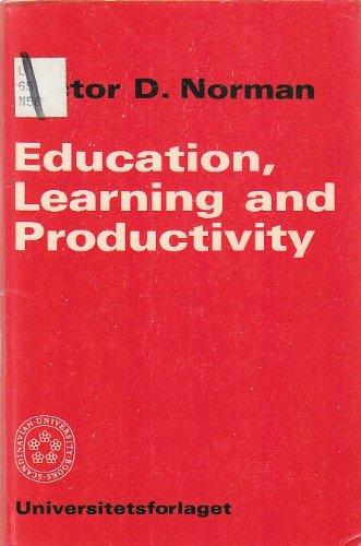 9788200023449: Education, Learning and Productivity (Scandinavian university books)