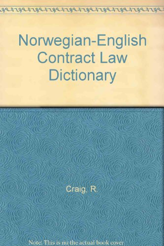 9788200213277: Norwegian-English Contract Law Dictionary