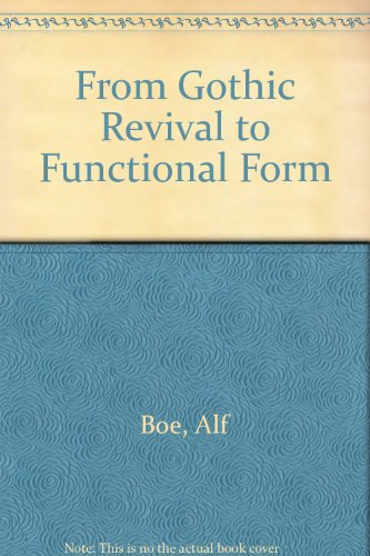 9788200427414: From Gothic Revival to Functional Form