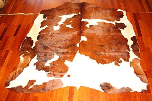 9788243003958: Tapis en peau de vache Noir et Blanc 73 220 x 180 cm