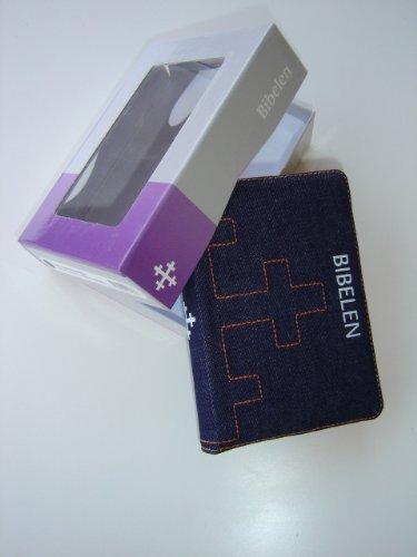 9788254108383: Norwegian Bible Jeans Bound / BIBELEN Jeans med glidelas / Bibelselskapet / 6 X 4.5 inches / Cross with Orange Zipper