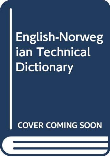 9788270284696: English-Norwegian Technical Dictionary