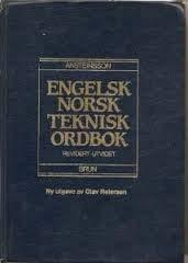 9788270284900: English-Norwegian Technical Dictionary