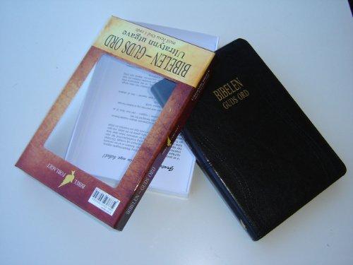 9788278390344: Norwegian Bible Words of Jesus in Red / Black Leather Bound, Golden Edges, Slim / BIBELEN - Guds Ord / Ultratynn ugave, med Jesu Ord in rodt / Svart skinn / 6 X 9 inches