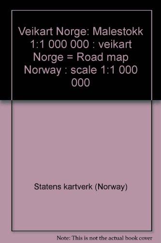 9788290408317: Veikart Norge: Målestokk 1:1 000 000 : veikart Norge = Road map Norway : scale 1:1 000 000 (Norwegian Edition)