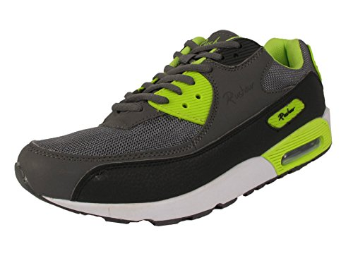 9788319215308: MENS TRAINERS CASUAL LACE AIR WALKING BOYS RUNNING GENTS SPORTS SHOES SIZE 7-12 (UK 8/42, Green / grey)