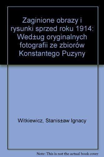 Stanislaw Ignacy Witkiewicz: Zaginione obrazy i rysunki: Sztaba, Wojciech