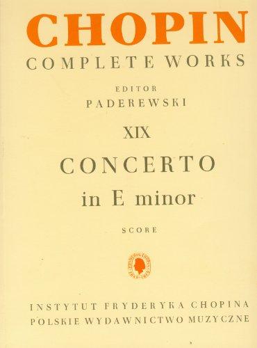 9788322423233: Chopin Complete Works XIX Concerto in E minor