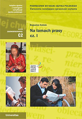 Na lamach prasy Czesc 1 (Paperback): Boguslaw Kubiak