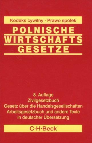 9788325512552: Polnische wirtschafts gesetze