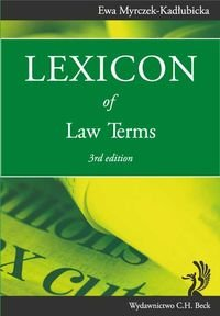 9788325543563: Lexicon of Law Terms